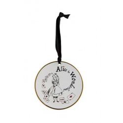 Disney Alice in Wonderland Tea Plate Hanging Ornament