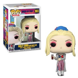 Funko Pop 303 Birds Of Prey Harley Quinn Black Mask Club