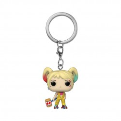 Birds of Prey Pocket POP! Vinyl Keychain Harley Quinn (Boobytrap Battle) 4 cm