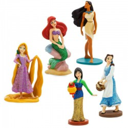 Disney Princess Exclusive 5-Piece PVC Figure Play Set [Belle, Pocahontas, Mulan, Rapunzel, Ariel]