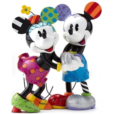 Disney Britto Figurine Mickey & Minnie Limited Edition 2500 Figurine