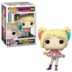 Funko Pop 302 Birds Of Prey Harley Quinn with Caution Tape