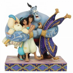 Disney Traditions - Group Hug! (Aladdin Figurine)