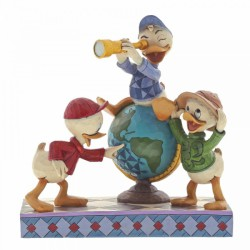 Disney Traditions - Navigating Nephews (Huey, Dewie and Louie Figurine)