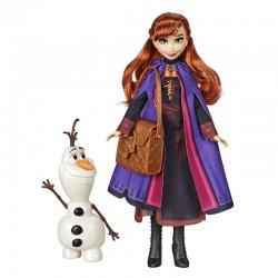 Disney Frozen 2 Storytelling Anna Fashion Doll with Olaf