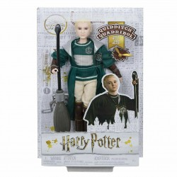 Harry Potter Quidditch Draco Malfoy Doll Figure Broomstick