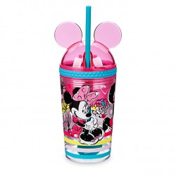 Disney Minnie Mouse Straw Tumbler and Snack Pot