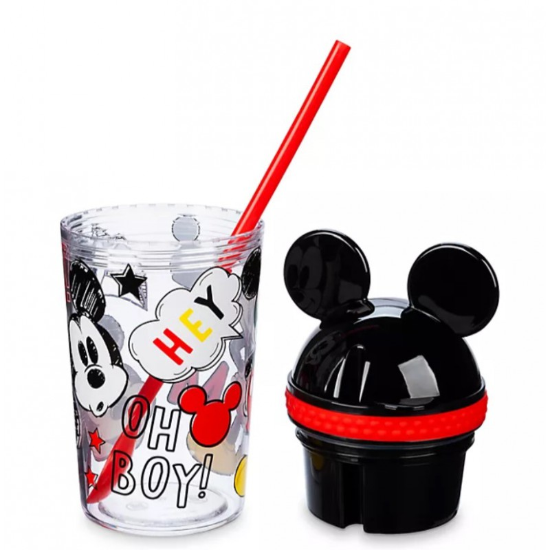 Disney Mickey Mouse Straw Tumbler and Snack Pot ...