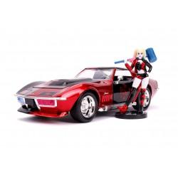 DC Comics Diecast Model 1/24 1969 Chevy Corvette Stingray with Figure