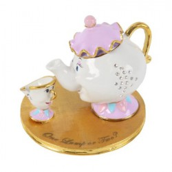 Disney Classic Trinket Box Chip and Mrs. Potts