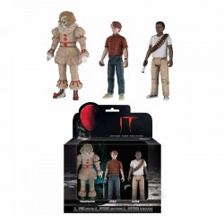 Stephen King's It 2017 Action Figures 3-Pack Set 3: Pennywise, Stan, Mike 12 cm