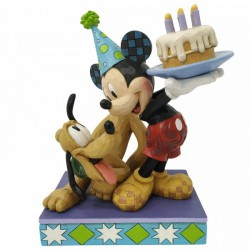 Disney Traditions - Pluto and Mickey Birthday Figurine