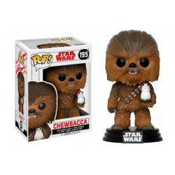Funko Pop 195 Star Wars Chewbacca With Porg