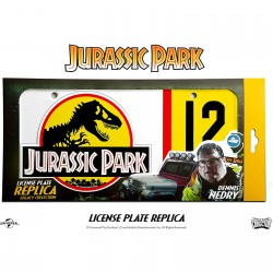 Doctor Collector Jurassic Park Dennis Nedry Licence Plate Replica