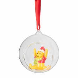 Disney Winnie The Pooh Ornament, Glass