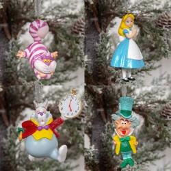 Disney Alice In Wonderland Ornament Set (4)