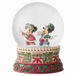 Disney Traditions - Splendid Skaters Victorian Mickey and Minnie Mouse Waterbal