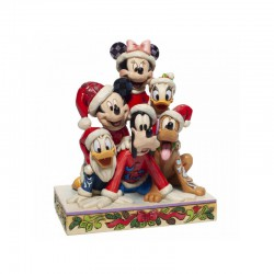Disney Traditions - Piled High with Holiday Cheer (Mickey and friends Figurine)