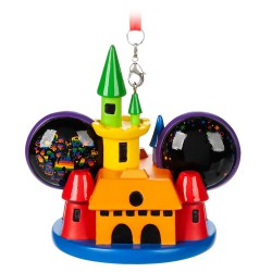 Disney Rainbow Collection Mickey and Minnie Mouse Castle Ear Hat Ornament