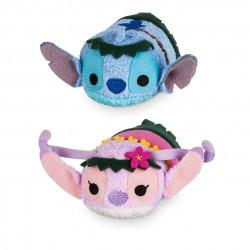 Disney Stitch and Angel ''Tsum Tsum'' Plush Hawaiian Set