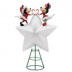 Disney Mickey and Minnie Holiday Cheer Light-Up Tree Topper