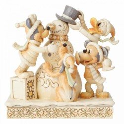Disney Traditions - Frosty Friendship (White Woodland Mickey and Friends)