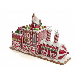 Kurt S. Adler Battery-Operated Gingerbread Junction LED Train Table Piece