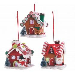 Kurt S. Adler Gingerbread LED Candy House - Set of 3
