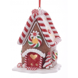 Kurt S. Adler Gingerbread LED Candy House Brown