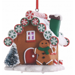 Kurt S. Adler Gingerbread LED Candy House Gingerbread