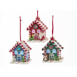 Kurt S. Adler Gingerbread LED Candy House - Set of 3