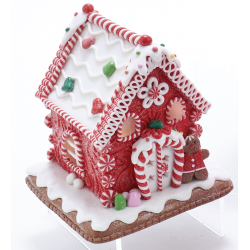 Kurt S. Adler Gingerbread House Gingerbread Led Battery Operated 5,5 Inch