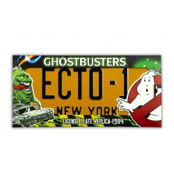 Ghostbusters: ECTO-1 License Plate Replica