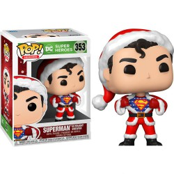 Funko Pop 353 DC Holiday: Superman in Holiday Sweater